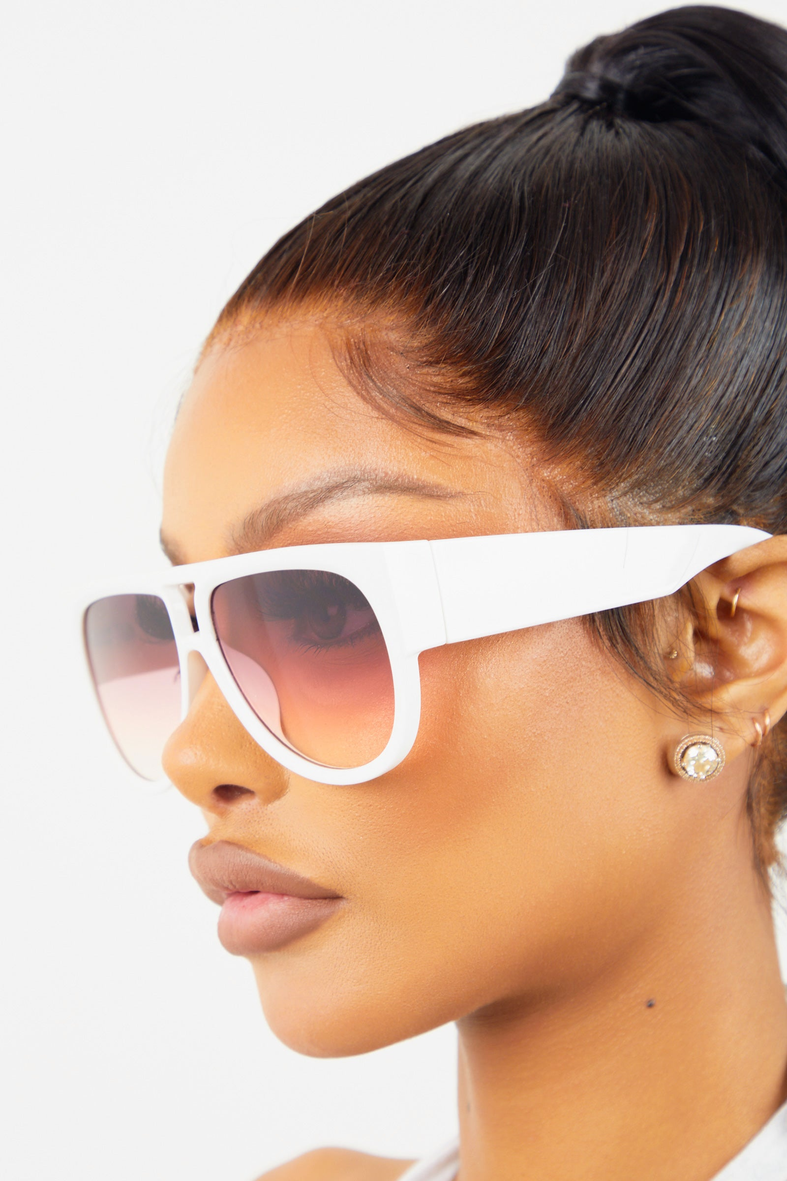 Full Coverage Sunglasses White