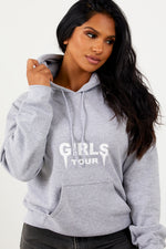 Girls Tour Hoodie Heather Grey
