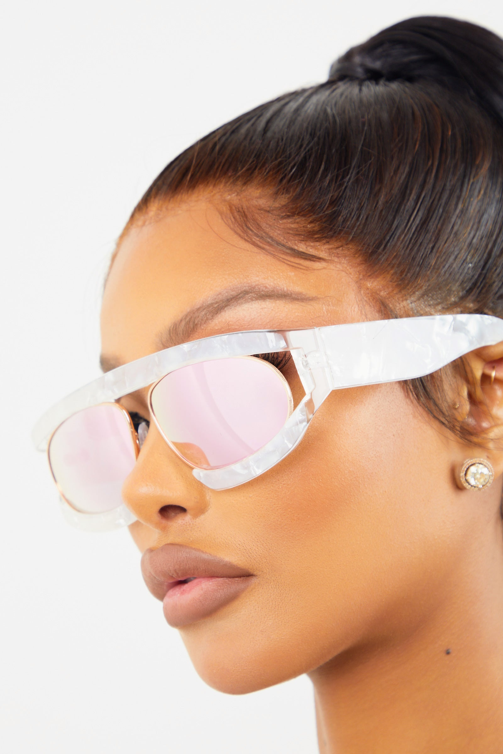 Pink Bug Eye Sunglasses