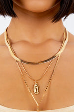 Gold Pendant Layering Cross Necklace