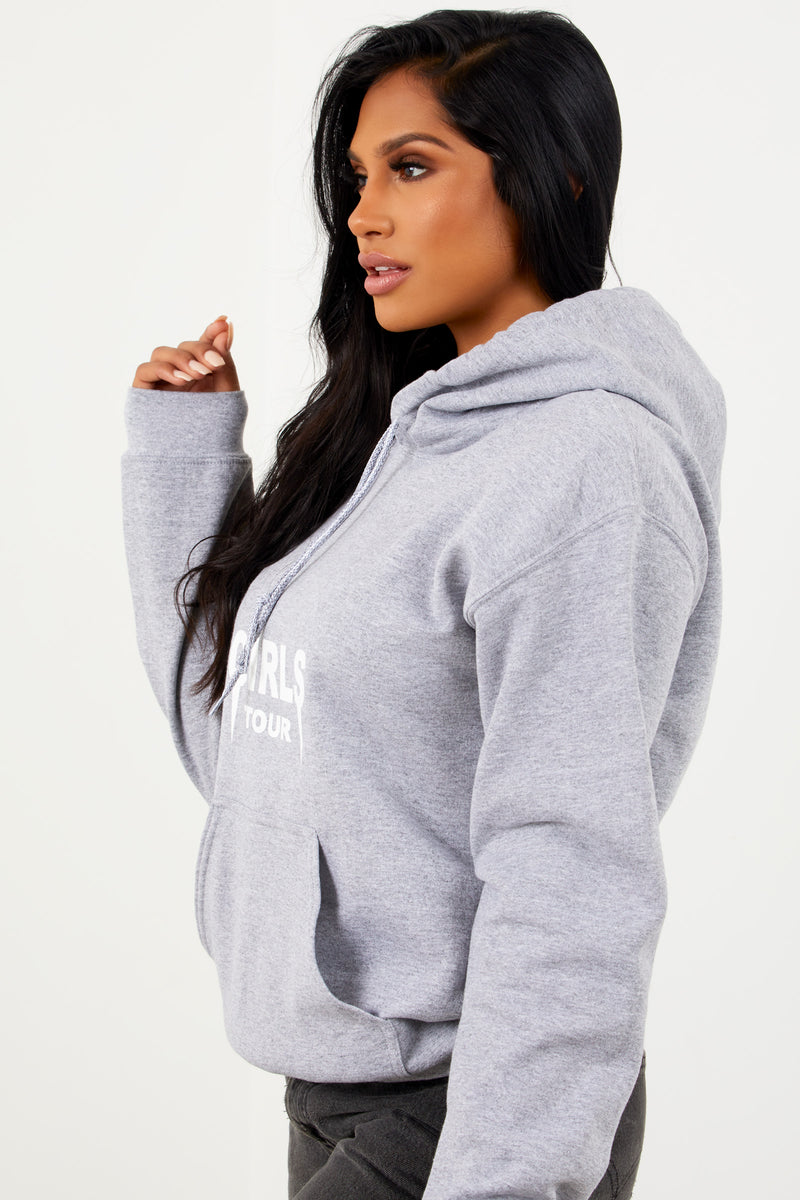 2a25c134be2 Girls Tour Hoodie Heather Grey