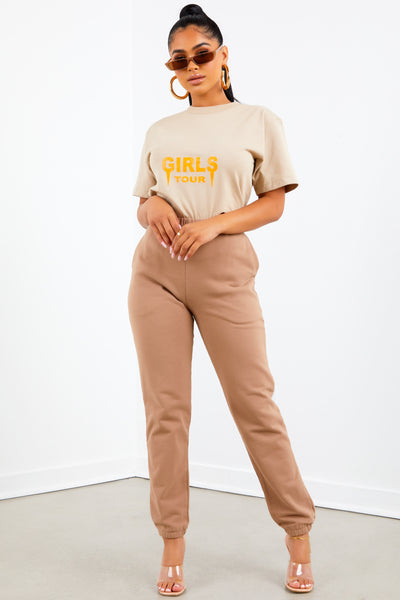 OG Girls Tour Tee- Tan/Orange