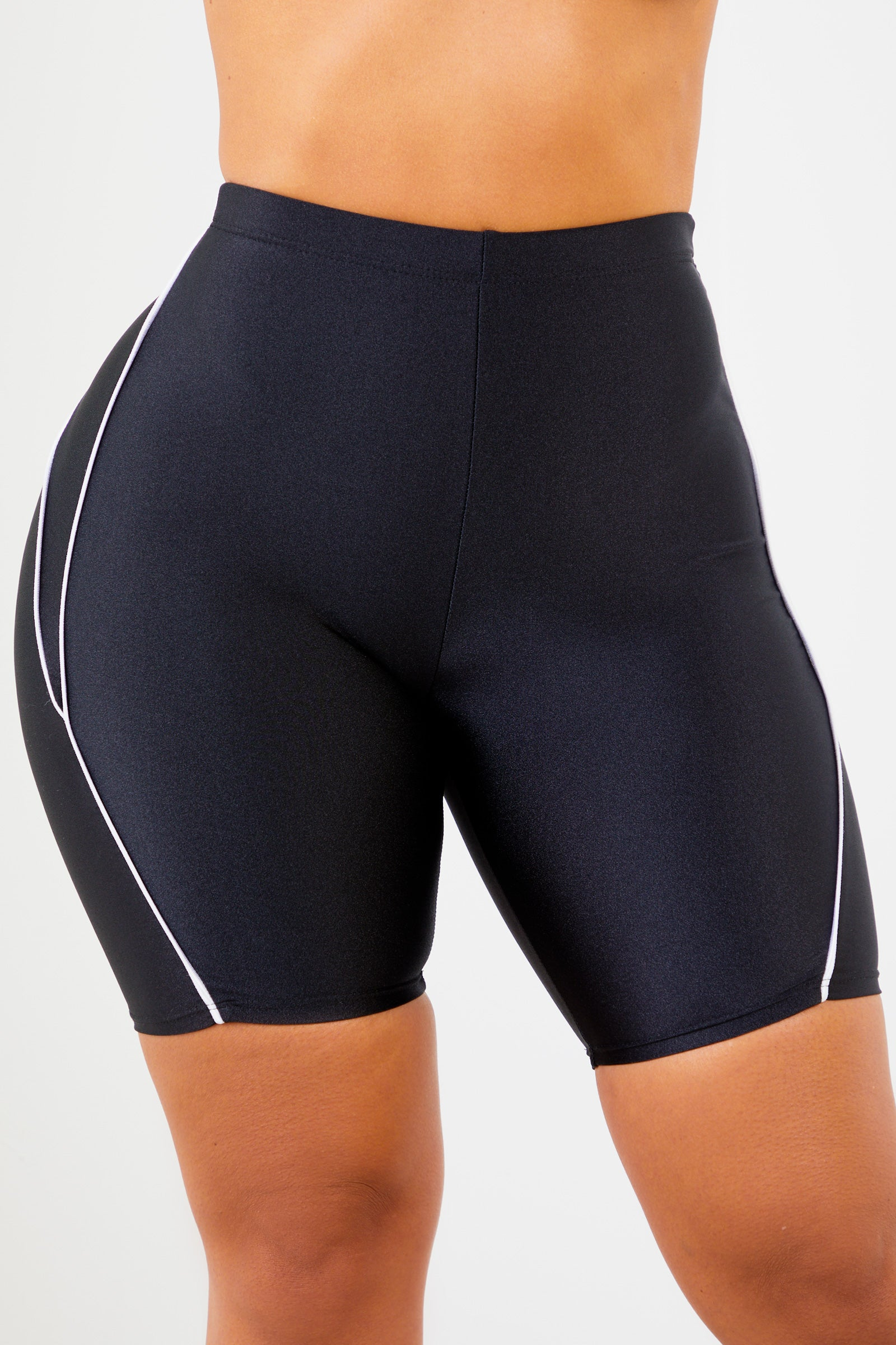 Sorella Black Athletic Piping Shorts