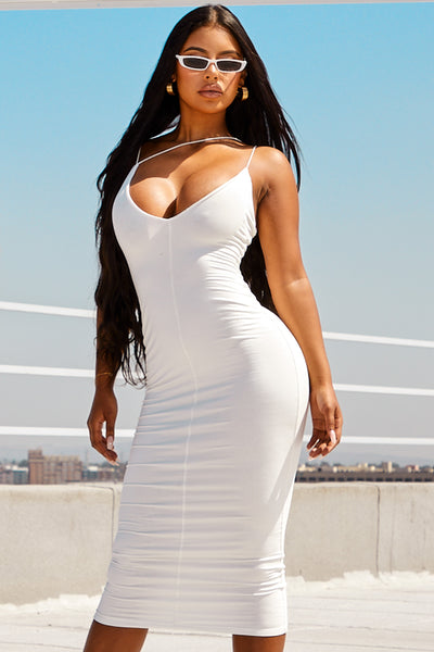 Ivory Valencia JLUXBASIX Dress