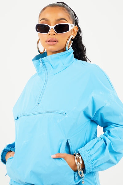 Baby Blue Reflective Track Jacket