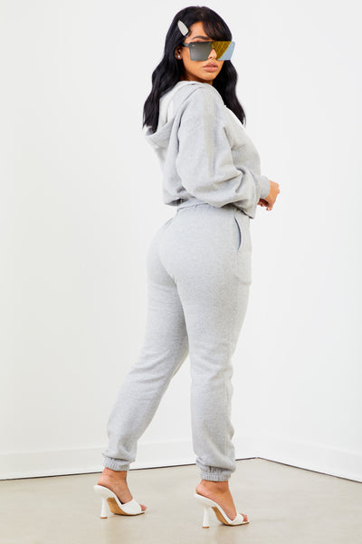 Heather Grey Solid Sweatpants