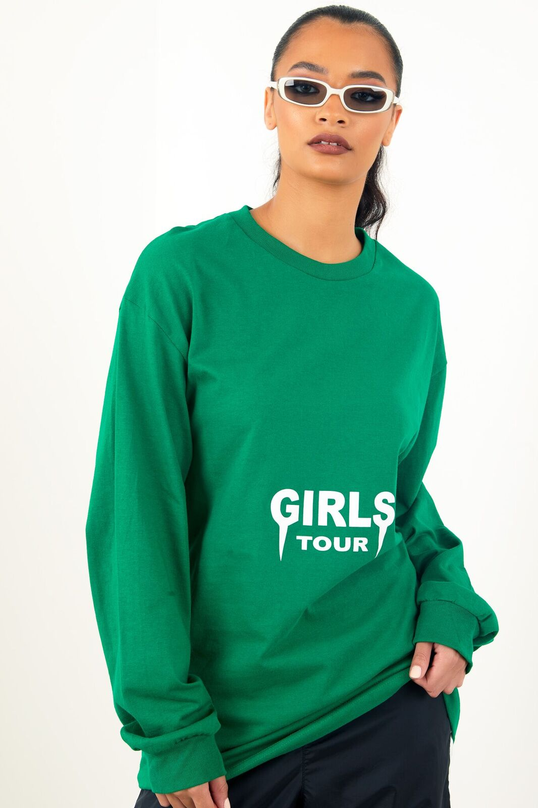 Girls Tour Long Sleeve Tee Green by Sorella
