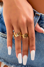 Gold Babygirl Ring Set