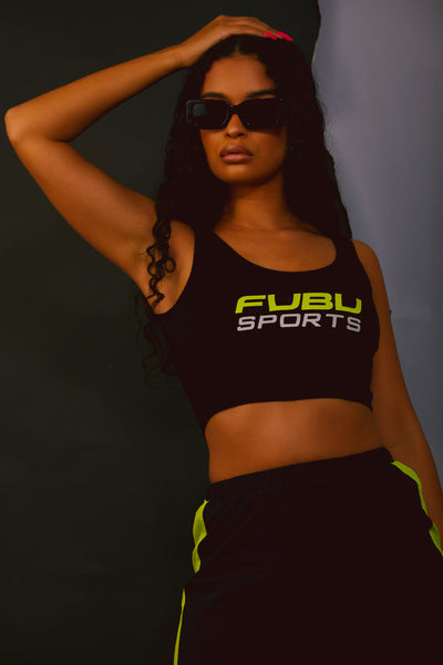 FUBU Black Cropped Tank