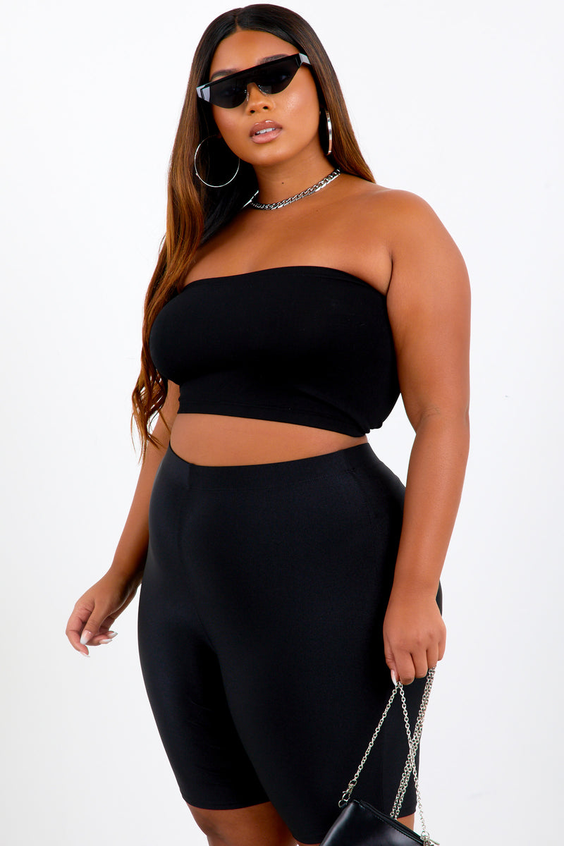 Black Shape Basic Bandeau
