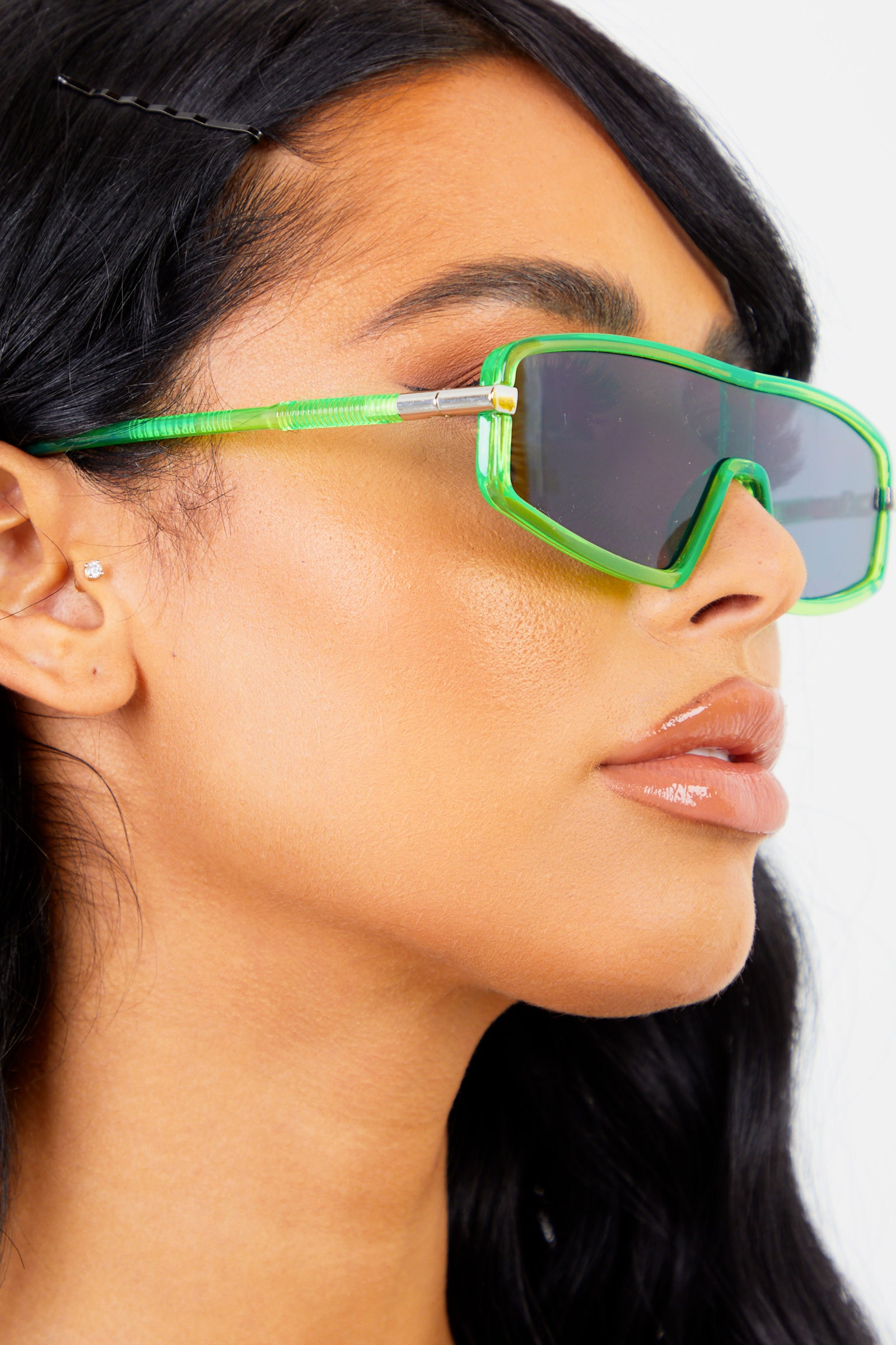 Neon Green Mini Sport Sunglasses