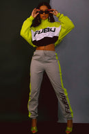 FUBU Grey Track Pants