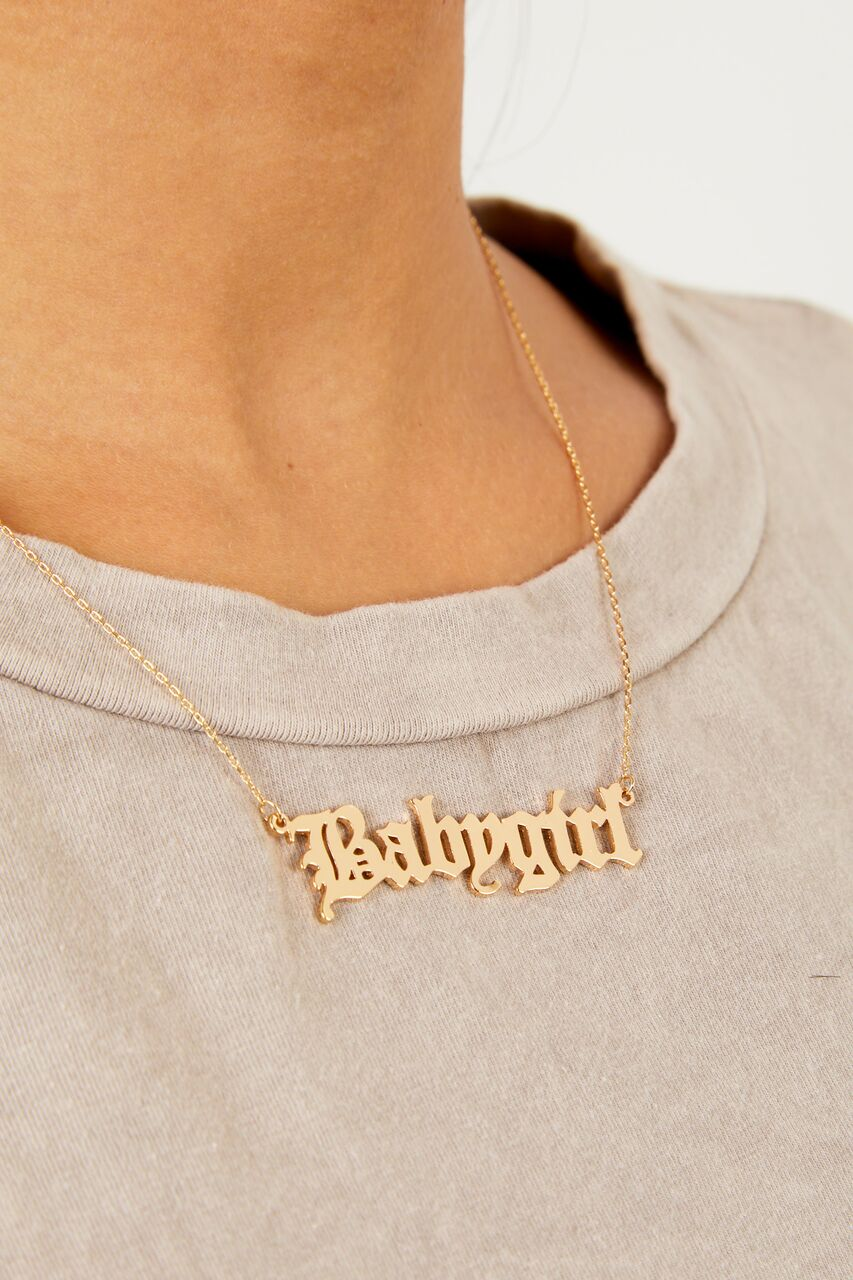 Gold Babygirl Necklace