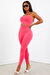 Pink High Waist Capri Legging Set