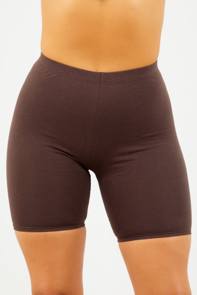 Chocolate Cotton Cycle Shorts