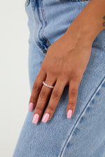 Rose Gold Diamante Ring