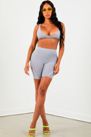 Sorella Heather Grey Basic Bralette