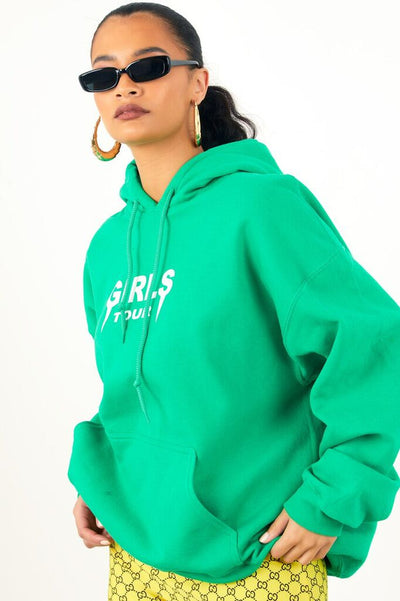 Girls Tour Hoodie Green