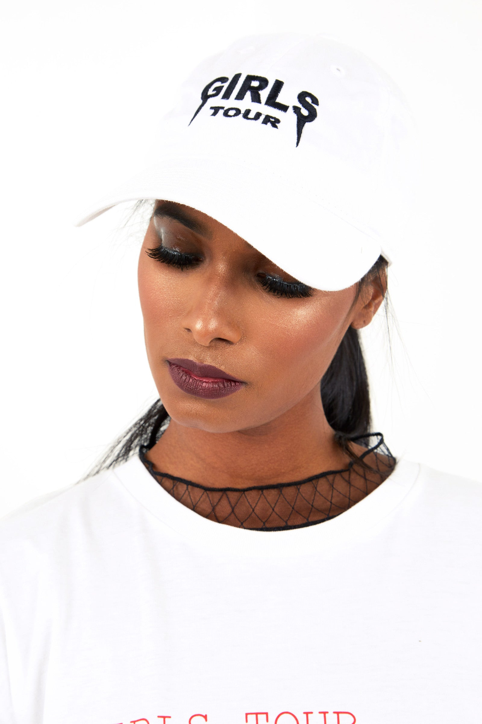 Girls Tour Hat White