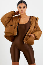 Chocolate Brown Athletic Unitard