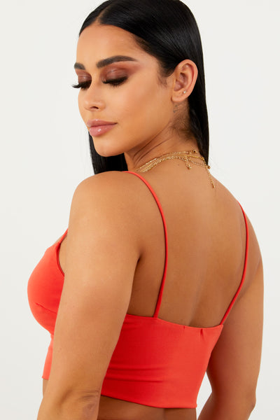 Sorella Cupro Cami Top - Orange