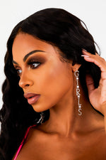 Silver Girls Diamante Drop Earrings