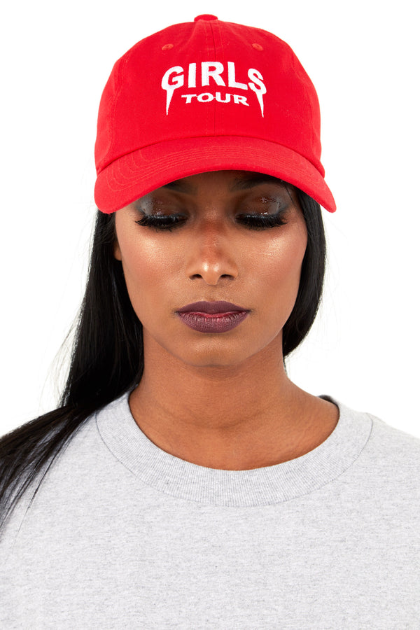 Girls Tour Hat Red