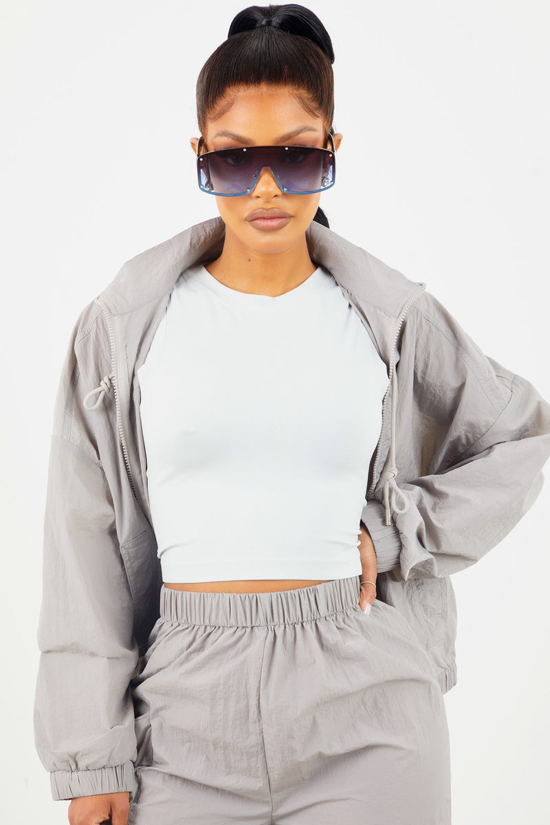 Grey Nylon Jacket