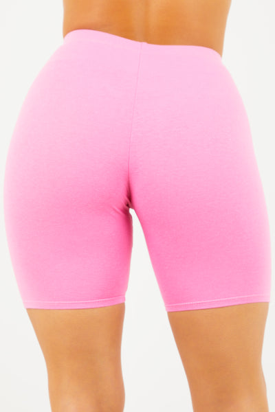 Pink Cotton Cycle Shorts