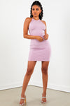 Sorella Dusty Rose Halter Mini Dress