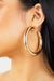 Gold Medium Chunky Open Back Earrings