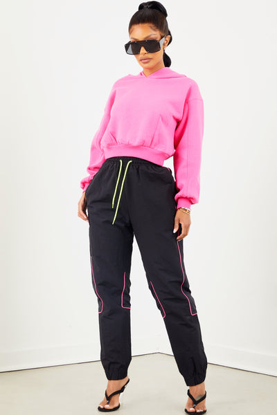 Girls Tour Logo Track Pant - Black