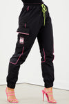 Girls Tour Shape Logo Track Pant - Black