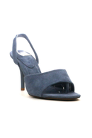 Steel Blue Kitten Heel