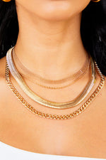 Gold Assorted Chain Necklace