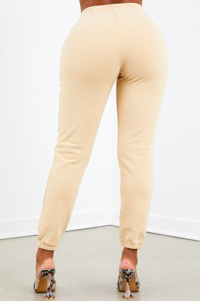 Nude French Terry Jogger Pant