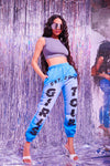 Blue Girls Tour Acid Wash Sweatpants