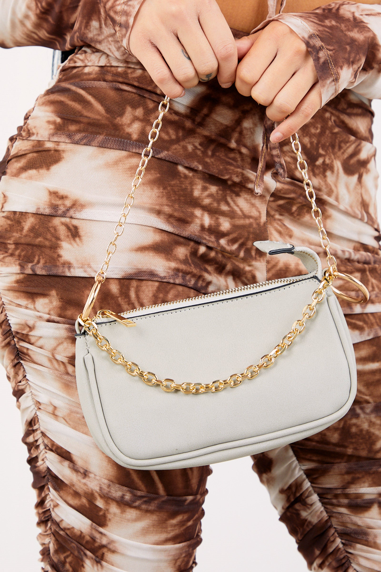 Sand Gold Chain Mini Handbag