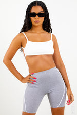 White Back Strap Crop Top