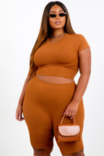 Camel Shape Short Sleeve Crop Top