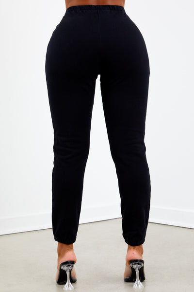 Black French Terry Jogger Pant