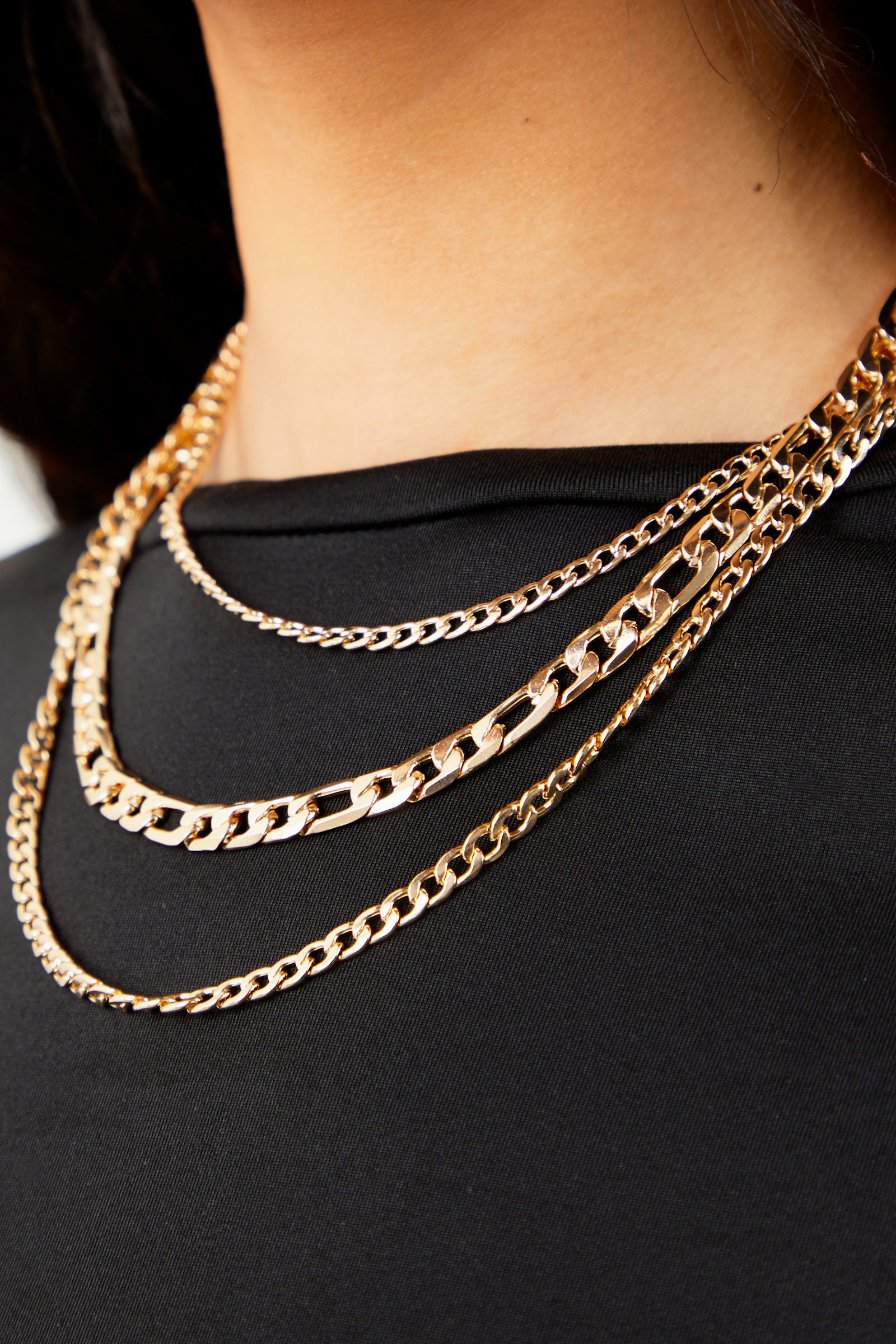 Gold 3-Piece Necklace