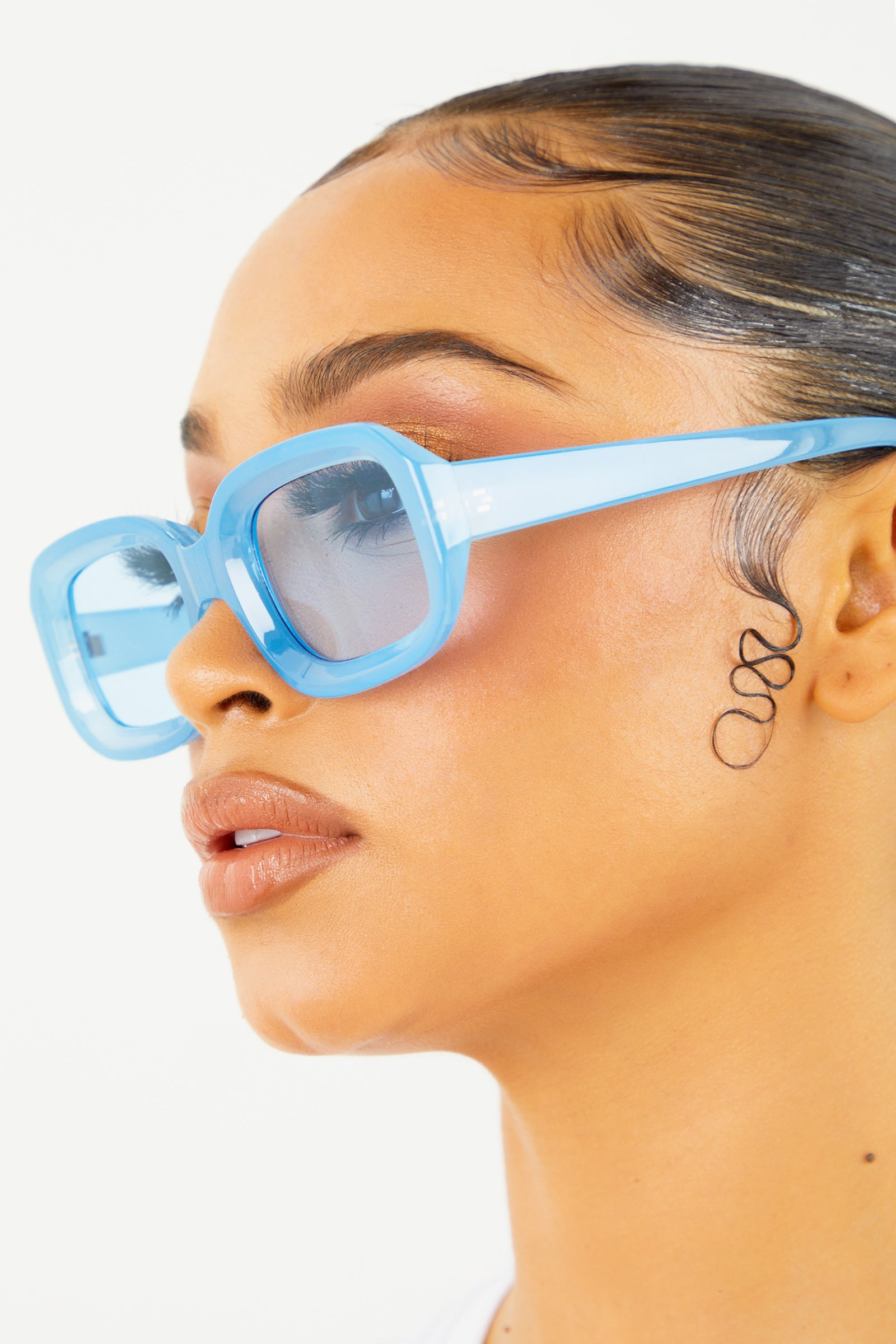 Blue Thick Frame Sunglasses