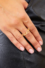 Gold Chain Diamond Ring