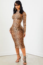 Sorella Leopard Three-Piece Mesh Dress