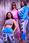 Blue Shape Girls Tour Acid Wash Sweatpants