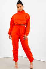 Orange Quarter Zip Tracksuit