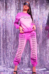 Pink Girls Tour Acid Wash Sweatpants