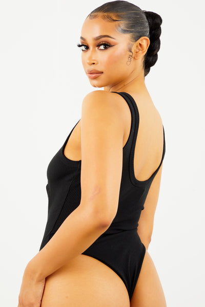Sorella Black Cut Out Bodysuit