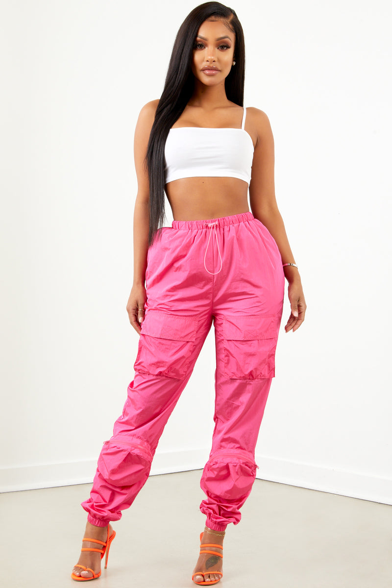 Sorella Neon Pink Pocket Overload Trackpant